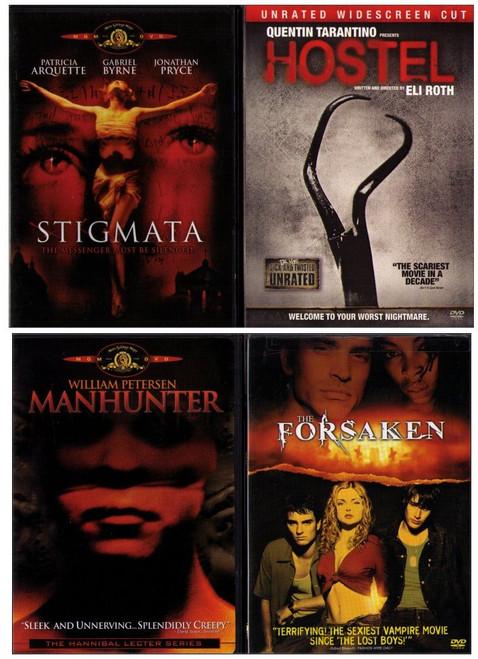 Scary Horror DVD Lot: Hostel / Stigmata / The Forsaken / Manhunter - (4 DVDs)