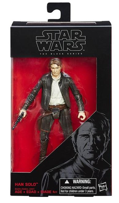 Star Wars The Force Awakens Black Series Han Solo Hasbro Action Figure