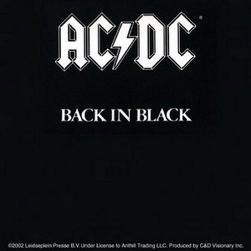 AC/DC Back In Black Sticker S-1951