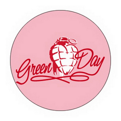 Green Day Heart Grenade Button B-2218