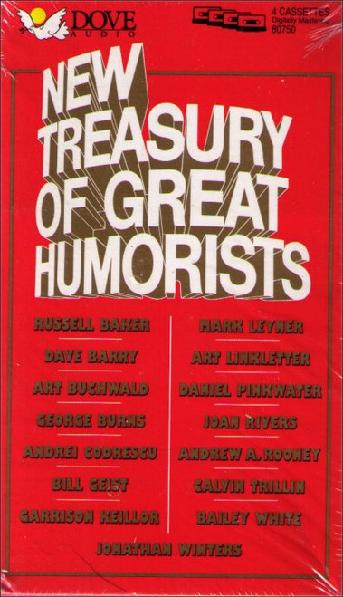 New Treasury of Great Humorists Audio Cassette Box Set - (4 Cassettes)