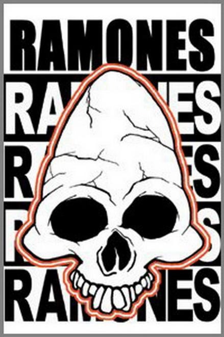Ramones Skull Magnet M-0383