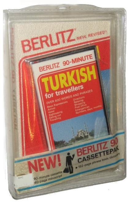Berlitz 90-Minute Turkish For Tavellers Book & Vintage Audio Cassette