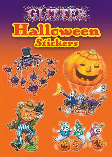 Glitter Halloween Spiders Ghost Oh My Stickers