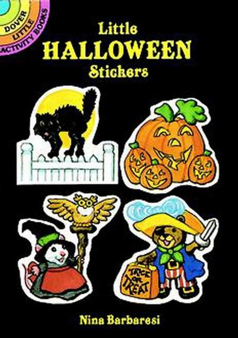 Little Halloween Witches Skeletons Goblins Pumpkins Sticker Set - 24 Stickers