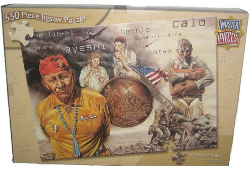 Master Pieces Puzzle - Visions of Valor Honoring The American Indian Marine 550 Pieces