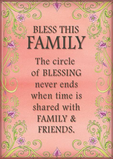 Bless This Family Magnet 29511LD