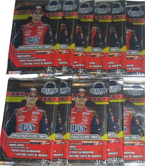 Nascar Winston Cup Eclipse Press Pass (2004) Racing Card Pack Lot - (11 Packs)