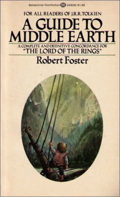 A Guide To Middle Earth Vintage (1971) Paperback Book - (Robert Foster)