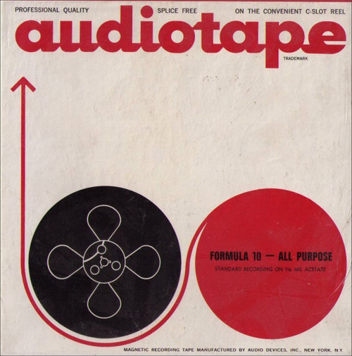Audiotape Formula 10 All Purpose 1200ft of 1 1/2 mil Acetate Recording Tape