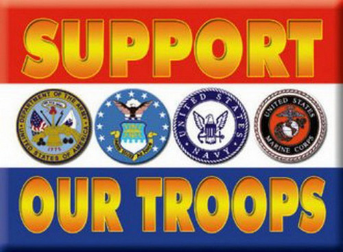 Support Our Troops Magnet 24507P