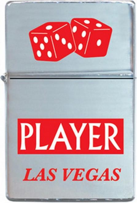 Las Vegas Player Refillable Metal Lighter ZP-0310