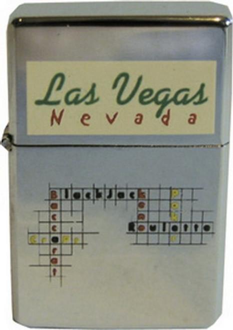 Las Vegas Nevada Table Games Refillable Metal Lighter ZP-0337