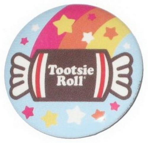 Tootsie Roll Candy Rainbow Button
