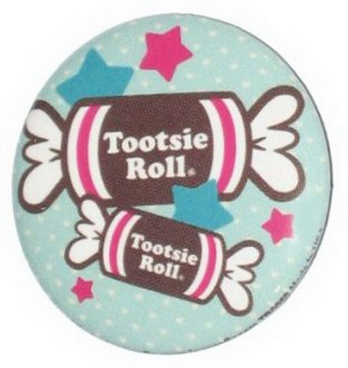 Tootsie Roll Candies and Stars Button