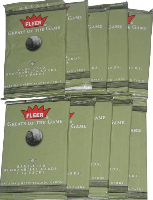 MLB Fleer Greats of The Game (2004) Baseball Trading Card Pack Lot - (10 Packs)