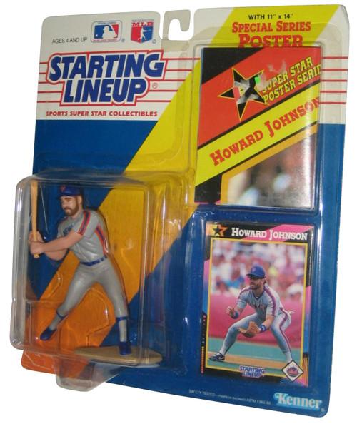 MLB Baseball Starting Lineup (1992) Howard Johnson Kenner NY Mets Figure w/ Poster