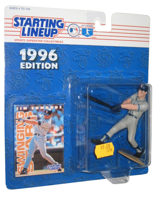 MLB Baseball Starting Lineup 1996 Jim Edmonds California Angels Figure w/ Trading Card