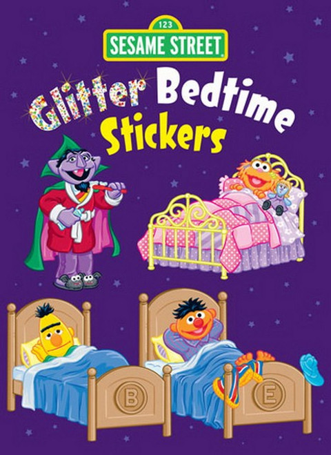 Sesame Street Bedtime Glitter Sticker Set - 12 Stickers