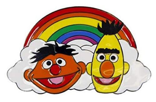 Sesame Street Bert & Ernie Rainbow Bioworld Belt Buckle 36080