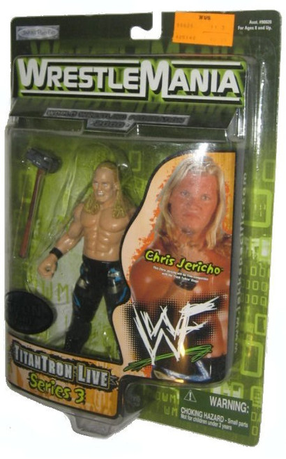 WWF Wrestle Mania Titantron Live Series 3 Chris Jericho Jakks Pacific WWE Action Figure