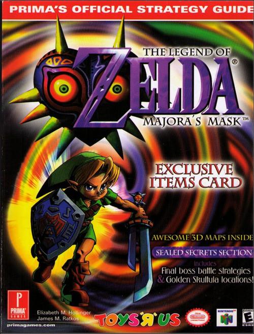 Nintendo Legend of Zelda Majora's Mask Prima Toys R Us Strategy Guide Book