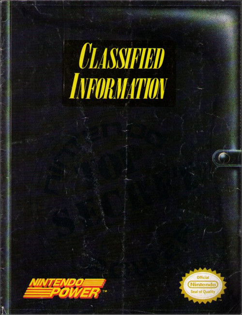 Nintendo Power Top Secret Classified Information Video Game Book