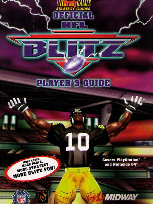 NFL Blitz Brady Games Nintendo 64 Official Strategy Guide Book