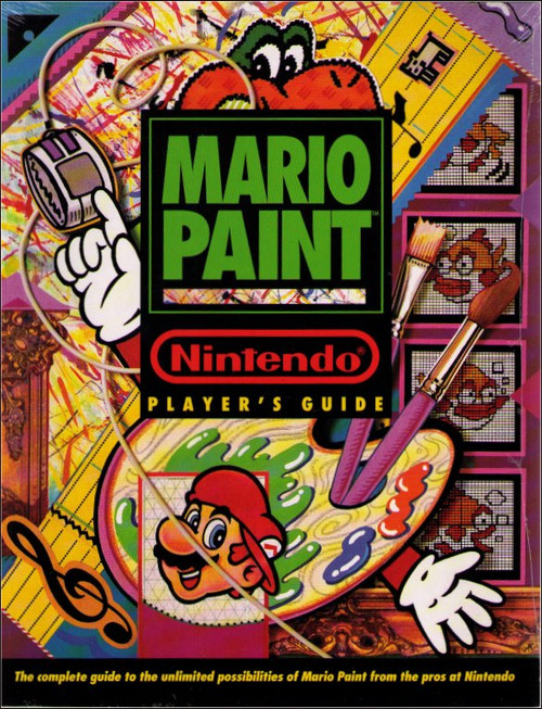 Nintendo Super SNES Mario Paint Players Strategy Guide Book