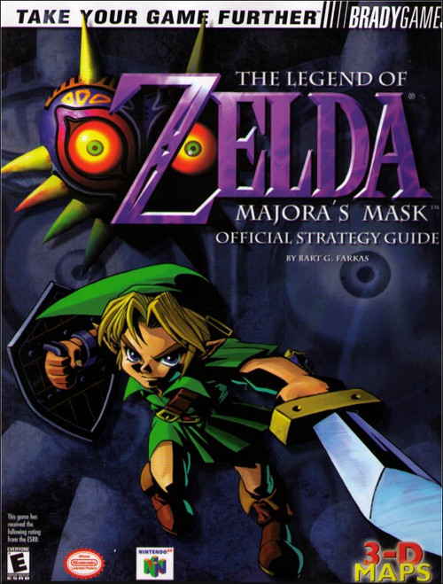 Nintendo Legend of Zelda Majora's Mask Official Strategy Guide Book