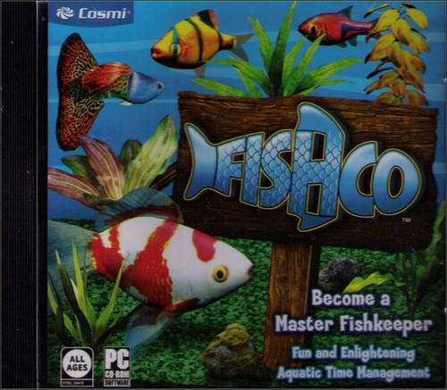 FishCo Cosmi Master Fish Keeper Aqua Time PC CD-Rom Video Game