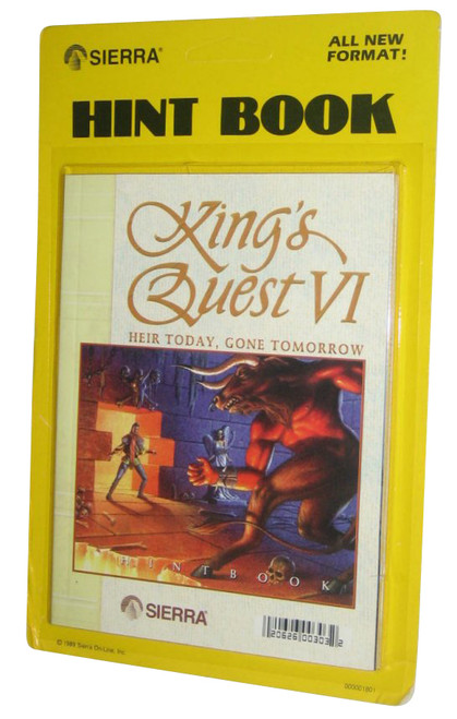 King's Quest VI Sierra Vintage (1989) Hint Book Strategy Guide
