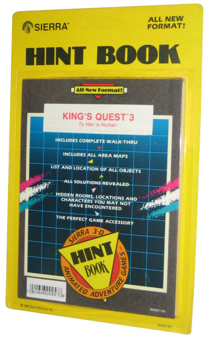 King's Quest 3 To Heir Is Human Sierra Vintage (1989) Hint Book Strategy Guide