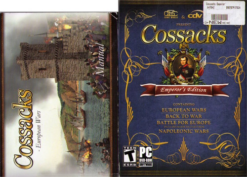 Cossacks Emperor's Edition PC Windows Video Game w/ Manual Book