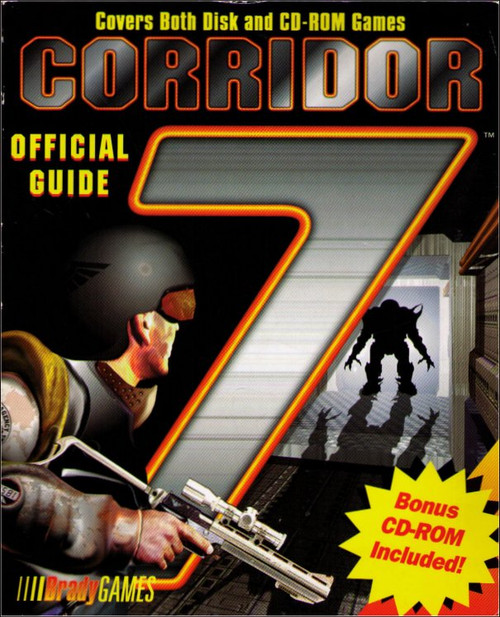 Corridor 7 PC Windows Brady Games Official Strategy Guide Book w/ CD-ROM