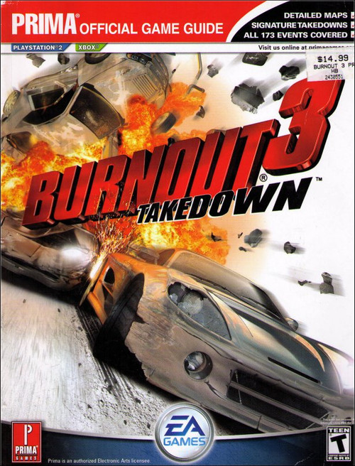 Burnout 3 Takedown Prima Official Strategy Guide Book