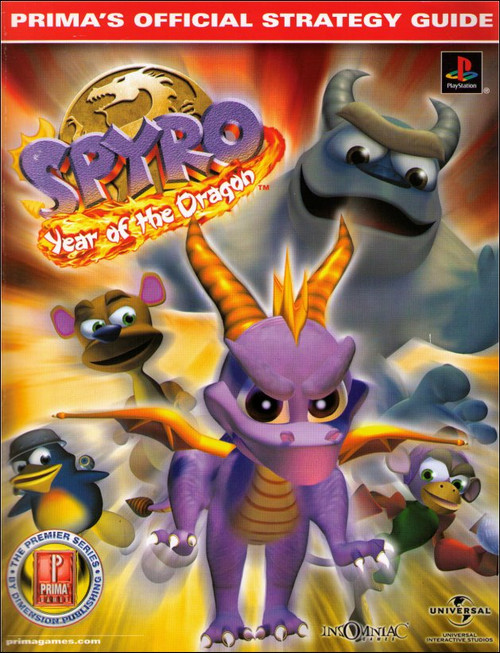 Spyro Year of The Dragon Prima Official Strategy Guide Book