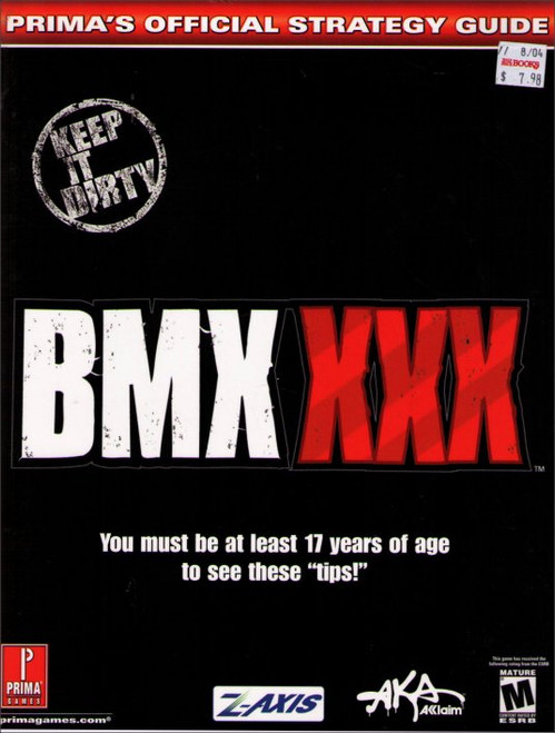 BMX XXX Prima Games Official Strategy Guide Book