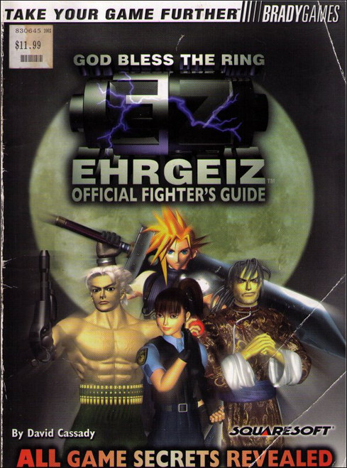 Ehrgeiz Brady Games Official Strategy Guide Book