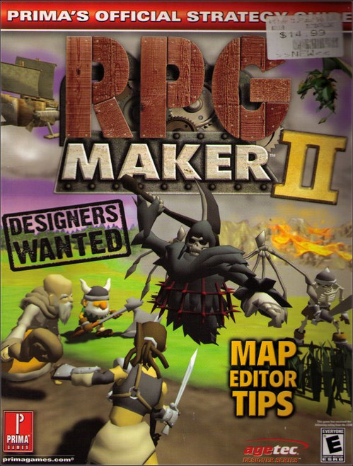 RPG Maker 2 Prima Official Strategy Guide Book