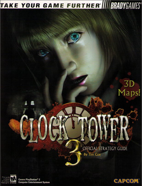 Clock Tower Brady Games Capcom Official Strategy Guide Book