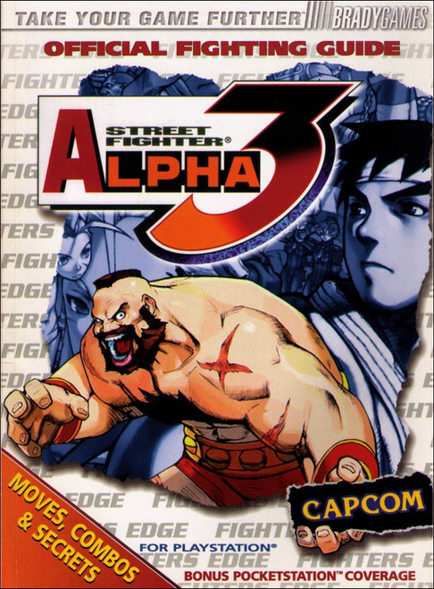Street Fighter Alpha 3 Brady Games Official Fighting Strategy Guide Book