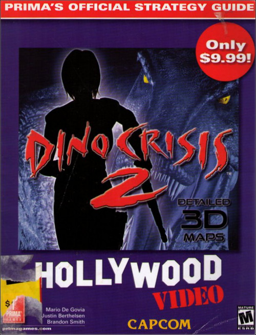 Dino Crisis 2 Hollywood Video Exclusive Prima Games Official Strategy Guide Book