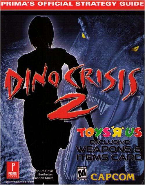 Dino Crisis 2 Toys R Us Exclusive Prima Games Official Strategy Guide Book w/ Weapons & Items Card