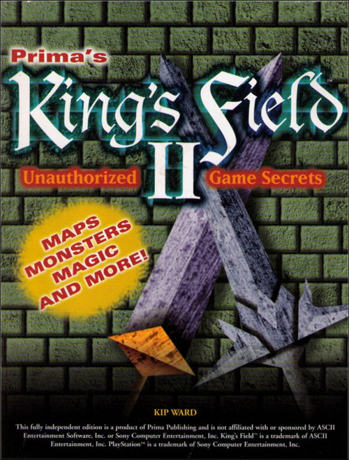 King's Field II Unauthorized Game Secrets Prima Strategy Guide Book