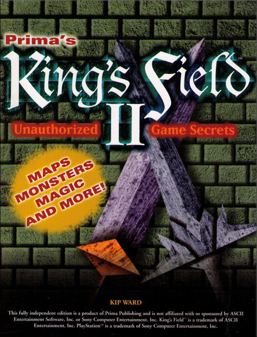 King's Field II Unauthorized Game Secrets Prima PlayStation Strategy Guide Book