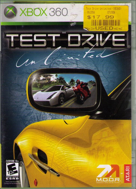 Test Drive Unlimited X-Box 360 Video Game