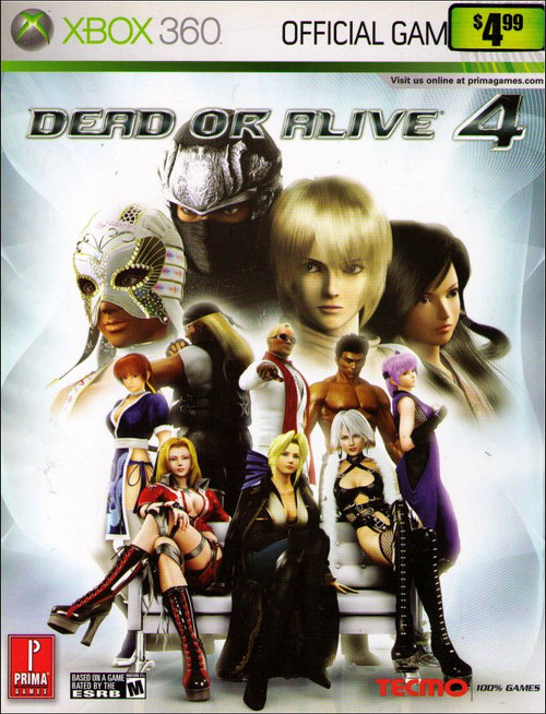 Dead or Alive 4 Prima Games X-Box 360 Official Strategy Guide Book