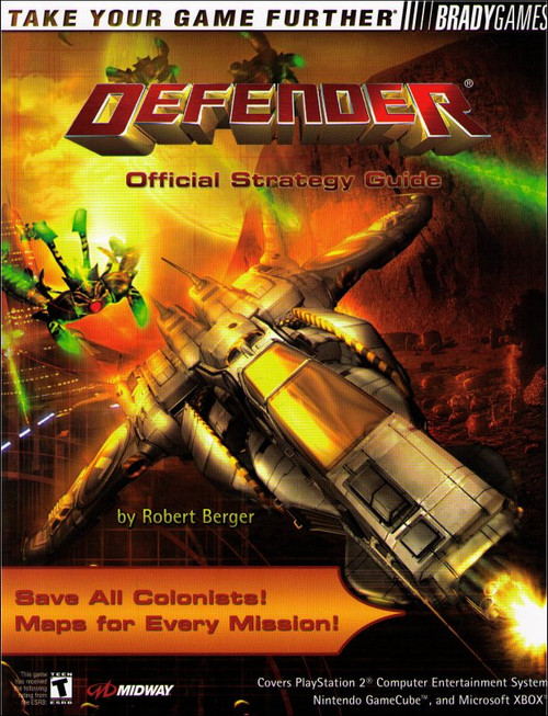 Defender Brady Games Official Strategy Guide Book