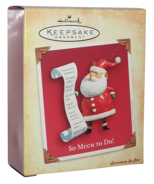 Christmas Holiday Santa Clause So Much To Do List Hallmark Keepsake Ornament